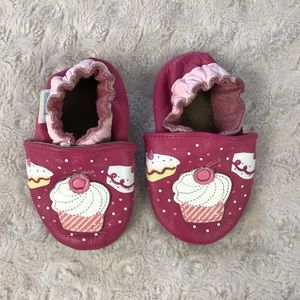 Robeez Cupcake Soft Sole Baby Shoes Pink 0-6 Month